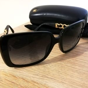 Chanel sunglasses gold and black